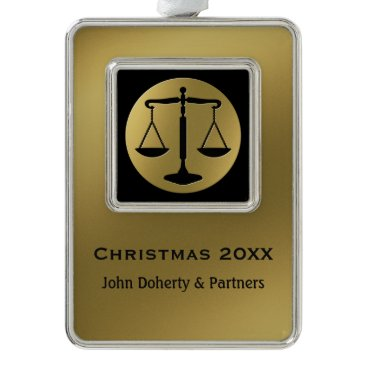Lawyer Themed Golden Attorney At Law Ornament