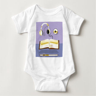 Golden Audiobook Vector Art Icon Baby Bodysuit