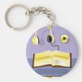 Golden Audiobook Vector Art Icon Keychain