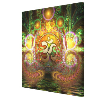 Golden Aum Dreams Canvas