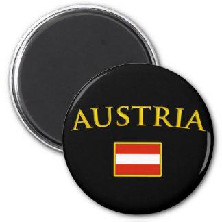 Golden Austria 2 Inch Round Magnet