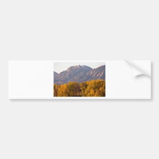 Golden Autumn Boulder Colorado Flatiron View Car Bumper Sticker