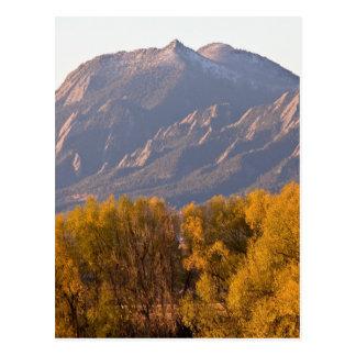 Golden Autumn Boulder Colorado Flatiron View Postcard