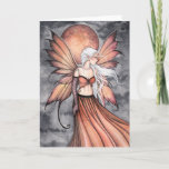 Golden Autumn Fairy Greeting Card