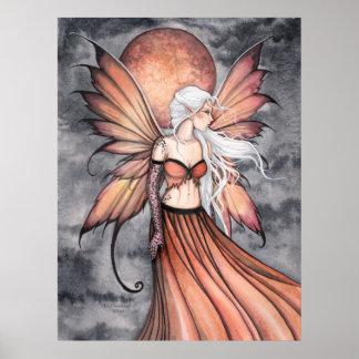 Golden Autumn Fairy Poster