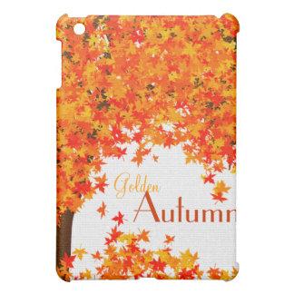 Golden Autumn iPad Cover - Fall Leaves in Orange