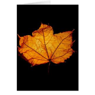Golden Autumn Leaf Card