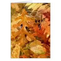 Golden Autumn Leaves-399 Card