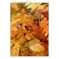 Golden Autumn Leaves-399 Card