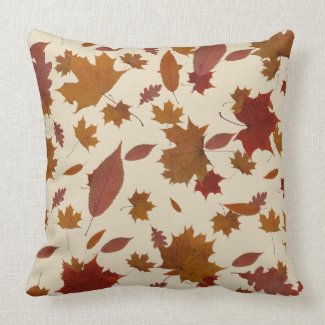 Golden Autumn Leaves on Custom Cream Color