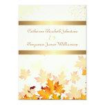 Golden Autumn Leaves Wedding 5x7 Paper Invitation Card