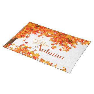 Golden Autumn Placemat - Fall Dining Theme