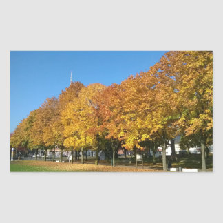 Golden Autumn Rectangular Sticker