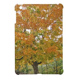 Golden Autumn Tree Beautiful Nature Design iPad Mini Covers