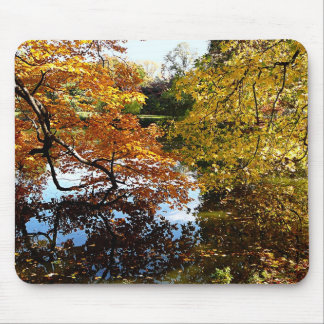 Golden Autumn Trees Mousepads