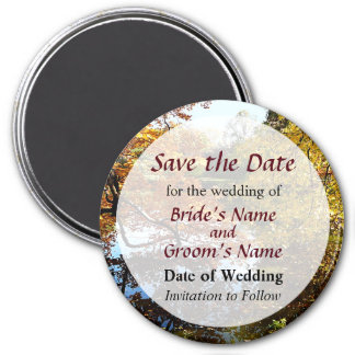 Golden Autumn Trees Save the Date Magnet