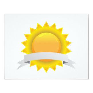 Golden Award Seal Badge 4.25x5.5 Paper Invitation Card