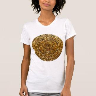 Golden Aztec Calendar T Shirt