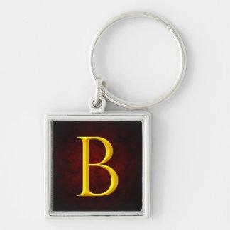 Golden B Monogram Keychain