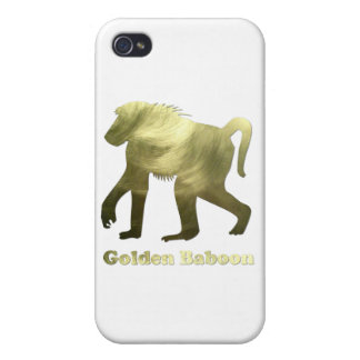 golden baboon iPhone 4/4S covers
