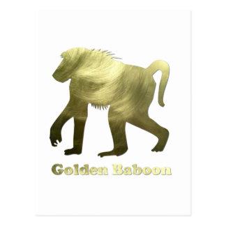 golden baboon postcard