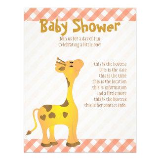 Golden Baby Giraffe Custom Announcement
