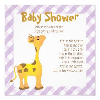 Golden Baby Giraffe Custom Announcements