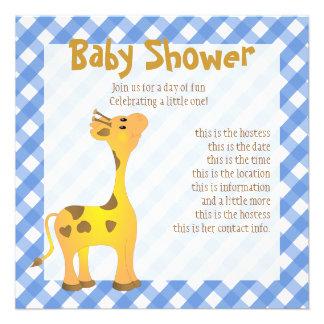 Golden Baby Giraffe Custom Invitation