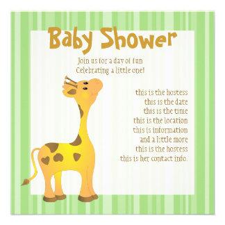 Golden Baby Giraffe Invitation