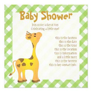 Golden Baby Giraffe Invite