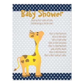 Golden Baby Giraffe Invites