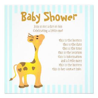 Golden Baby Giraffe Personalized Invitation