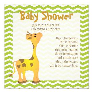 Golden Baby Giraffe Personalized Invite