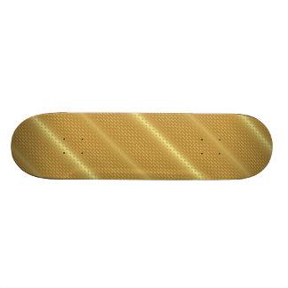Golden background skateboard deck