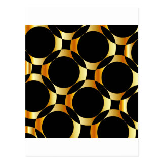 Golden background with circles postcard