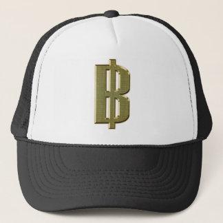 GOLDEN BAHT SIGN ฿ Thai Money Currency ฿ Trucker Hat