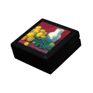 Golden Ball Flowers Keepsake Box