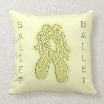 Golden Ballet Slippers American Mojo Pillow