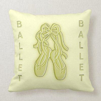Golden Ballet Slippers American Mojo Pillow