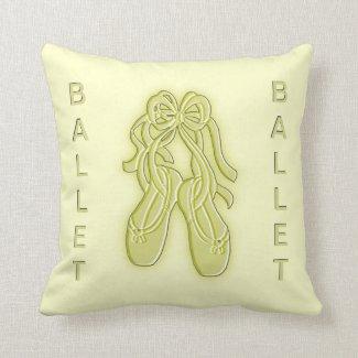 Golden Ballet Slippers American Mojo Pillow Pillow