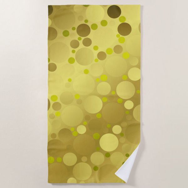 golden balls beach towel
