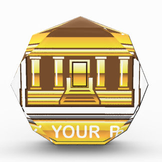 Golden bank Link Your Bank Button Glossy Award