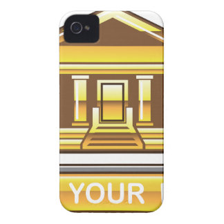 Golden bank Link Your Bank Button Glossy iPhone 4 Cover