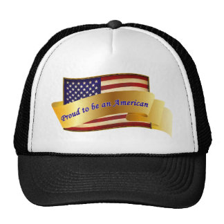 Golden Banner and Flag Hats