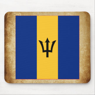 Golden Barbados Flag Mouse Pad