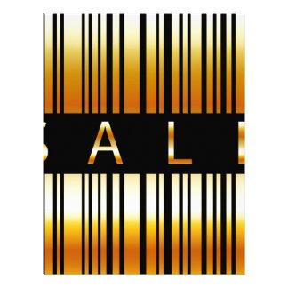 Golden barcode letterhead