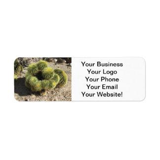 Golden Barrel Cactus Label