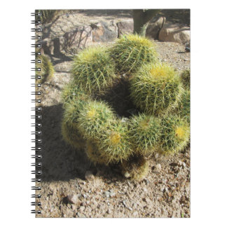 Golden Barrel Cactus Spiral Notebook