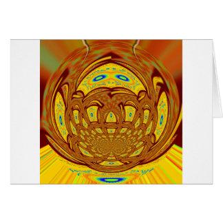 Golden Baseball Glove Card