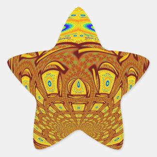 Golden Baseball Glove Star Sticker